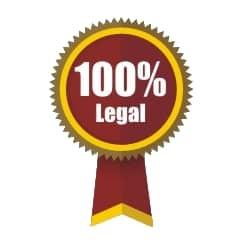 100 percent legal